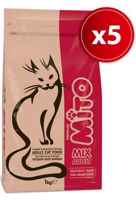 Mito Mix Yetişkin Kedi Maması 1 Kg X 5 Adet