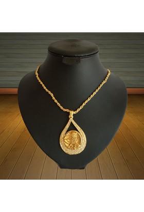 Forentina Büyük Tuğra Madalyon Kolye Fr0505