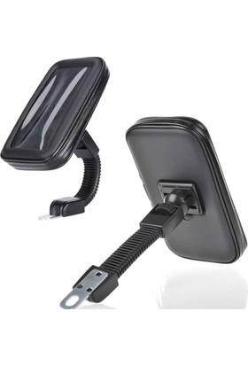 Microcase Motorsiklet Dikiz Aynası 5.5 İnch Telefon Tutucu Universal L Model