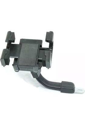 Microcase Universal Motorsiklet Dikiz Aynası Telefon Tutucu Mandallı