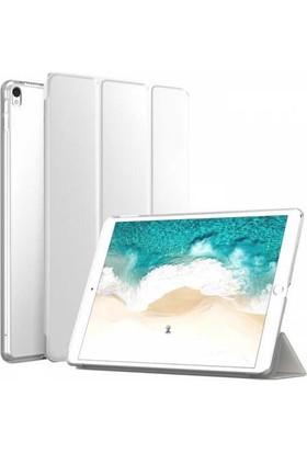 Microcase Apple iPad Pro 10.5 İnç Smart Cover Crystal Standlı Kılıf Cam
