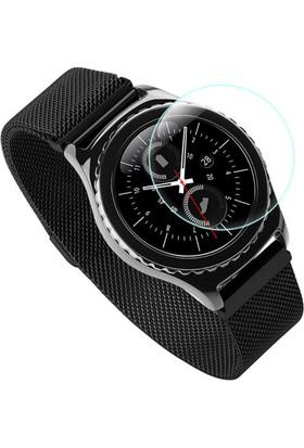 Microcase Samsung Gear S3 Frontier Tempered Glass Ekran Cam Koruma