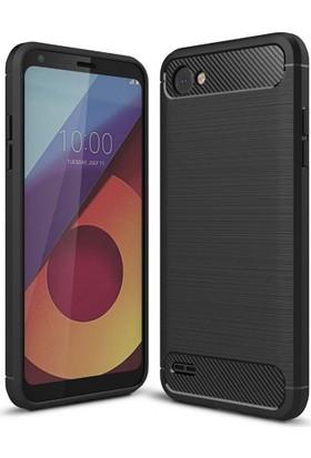 Case 4U LG Q6 Korumalı Arka Kapak Room Siyah