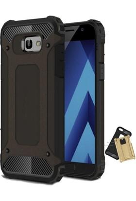 Case 4U Samsung Galaxy A7 2017 Çift Katmanlı Tank Kapak Siyah