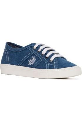 U.S. Polo Assn. Erkek Çocuk Y7Mindy Ayakkabı Mavi