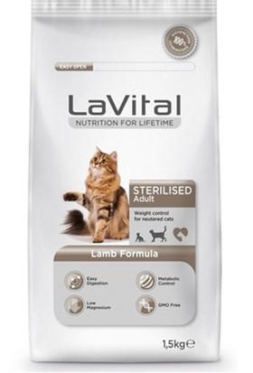 La Vital Kuzu Etli Kısırlaştırılmış Kedi Maması 1.5 kg