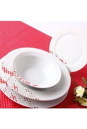 Porland Porselen Beliz 24 Parça Yemek Takımı