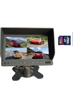 AUDIOMAX MX2037R Servis Araçları için 4 Kameralı Kayıt Sistemi