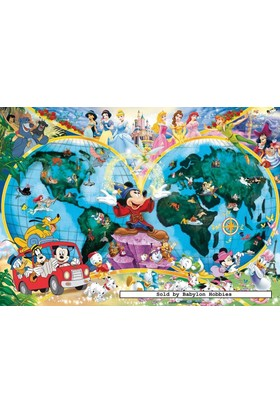 Ravensburger 1000 Parça Disney Dünya Haritası Puzzle