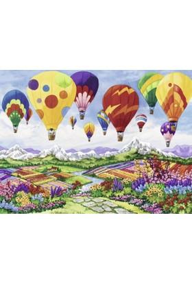 Ravensburger 1500 Parça Puzzle (İlkbahar ve Rengarenk Balonlar)