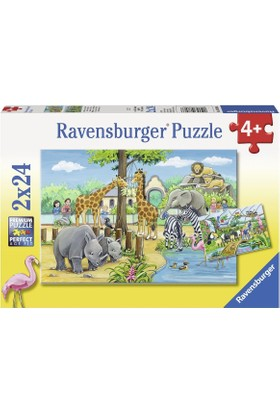 Ravensburger Hayvanat Bahçesi Çocuk Puzzle (2 x 24 Parça)