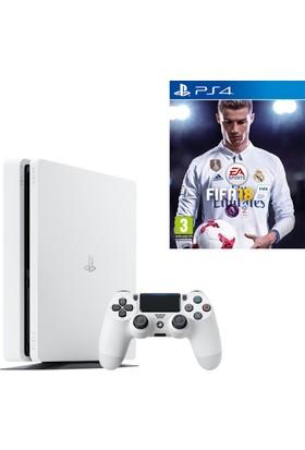 Sony Ps4 Slim 500 Gb Oyun Konsolu Beyaz + Fifa 18 (İthalatçı Garantili)