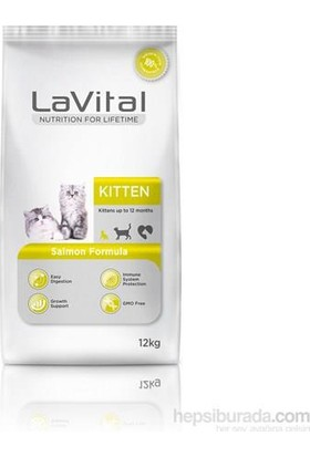 La Vital Cat Kitten Salmon Somonlu Yavru Kedi Maması 12 Kg