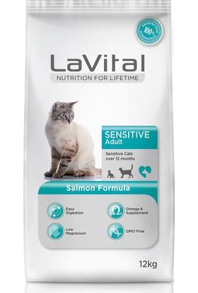 La Vital Cat Adult Sensitive Somon Balikli Yetişkin Kedi Mamasi 12 Kg