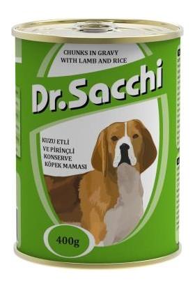 Dr.Sacchi Köpek Konserve Kuzu Etli Pirinçli 400Gr
