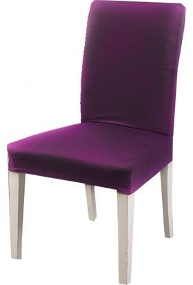 Masho Trend Mor Sandalye Örtüsü Likralı Yıkanabilir Sandalye Kılıfı
