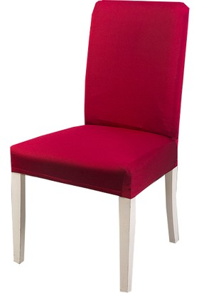 Masho Trend Bordo Sandalye Örtüsü Likralı Yıkanabilir Sandalye Kılıfı