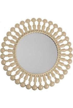 Evcazım Dekoratif Ayna (Krem) - 50 cm