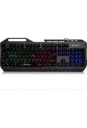 Everest Rampage KB-R73 Gri/Siyah USB Aydınlatmalı Metal Kasa Q Gaming Klavye