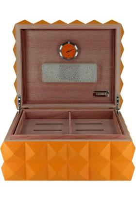 Bek Tobacco Cohiba Puro Kutusu Piramides Design Orange