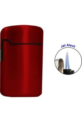 Easy Torch Tek Alev Metal Puro Çakmağı Kırmızı 0202082