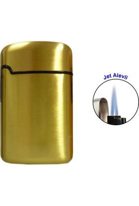 Easy Torch Tek Alev Metal Puro Çakmağı Gold 0202081