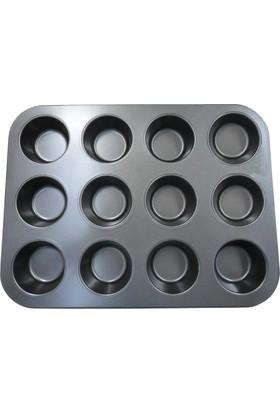 DK 12 Bölmeli Muffin Kek Kalıbı 1636-6
