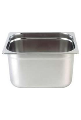 Kayalar 5,9 Litre Paslanmaz Çelik Gastronom Küvet 1/2-100