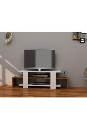 Decorotika Sole Tv Ünitesi Beyaz Ceviz