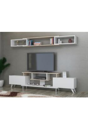 Decorotika Ares Tv Ünitesi Beyaz Sonomo