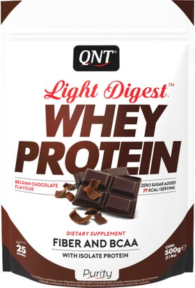 Qnt Light Digest Whey Protein Belgian Chocolate 500 Gr
