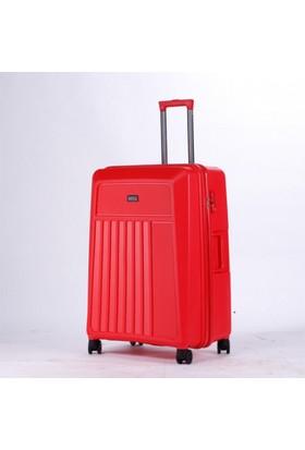 Hotowa Polipropilen Kırılmaz Valiz Kabin Boyu Kırmızı