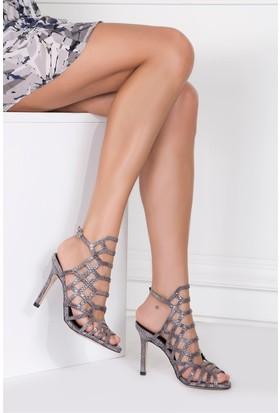 İlvi Shakira 109047 Sandalet Füme Yılan