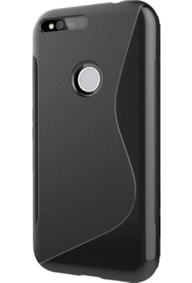 Microcase Google Pixel 5.0 Sline Siyah Silikon Kılıf