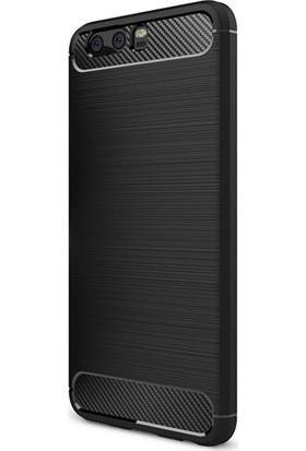 Microcase Huawei P10 Plus Brushed Carbon Fiber Silikon TPU Kılıf