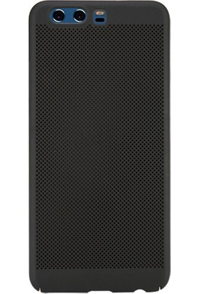 Microcase Huawei P10 Mesh Delikli Slim Sert Rubber Kılıf