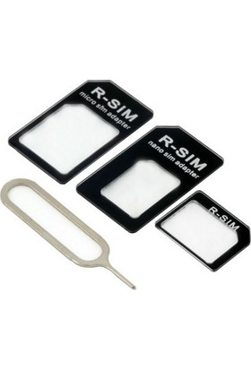 Microcase Nano Sim Micro Sim ve Normal Sim Kart Çevirici Adaptör Set