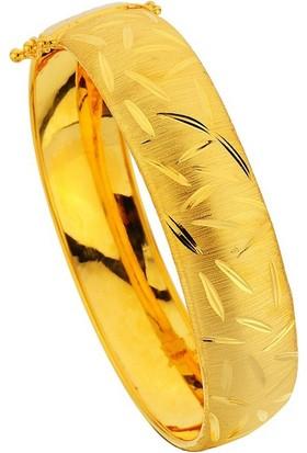 Sembolgold Altın Kelepçe Yaprak Desenli