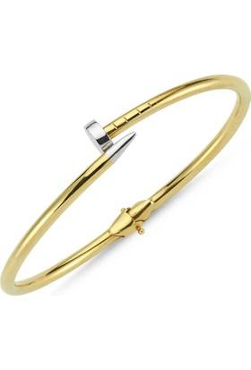 Sembolgold Altın Kelepçe 14 Ayar Çivi Tasarım As-64564908