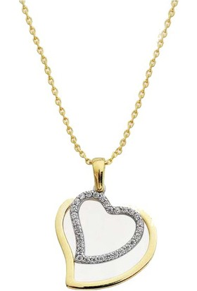 Sembolgold Altın Kolye Kalp Sen&Ben