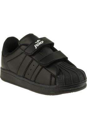 Jump 16757 Çift Cırt Siyah Çocuk Spor Ayakkabı
