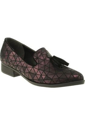 Stella 18031 Fiyonklu Günlük Bordo Kadın Ayakkabı