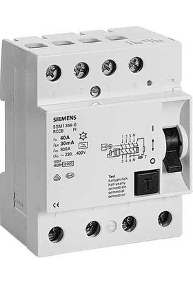 Siemens 5Sv4346-0 63A 30Ma 400V (3 Faz + Nötr) Kaçak Akım Koruma Rölesi