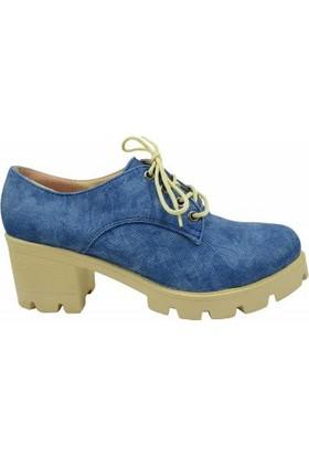 Jeny 2400 Bayan Kalın Taban Ayakkabı