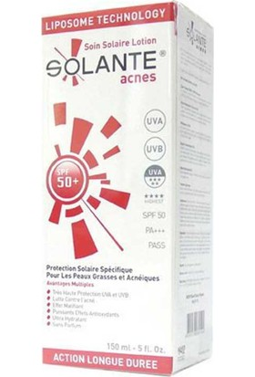 Solante Acnes Lotion (Akne Ve Sivilce) Spf 50 150 Ml