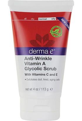 Derma E Anti Wrinkle Vitamin A Glycolic Scrub 113 G - Hücre Yenileyici Peeling