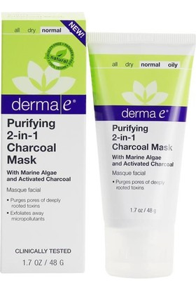 Derma E Purifying 2 İn 1 Charcoal Mask 48G