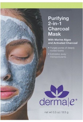 Derma E Purifying 2-İn-1 Charcoal Mask 8.5G