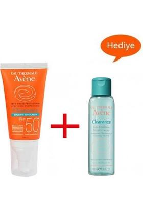 Avene Cleanance Solaire Spf 50 50Ml - Avene Cleanance Cleansing Water 100Ml Hediye