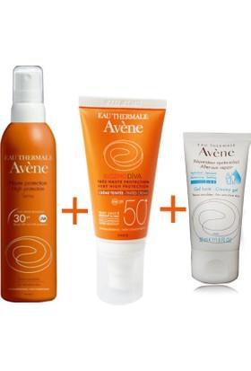 Avene Spray Spf 30 200 Ml + Avene Creme Teintee Spf 50+ After Sun 50 Ml